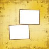 De frames van Grunge voor album Stock Foto's