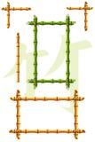 De frames van het bamboe Stock Foto