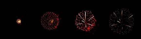 De frames van het vuurwerk Stock Afbeelding