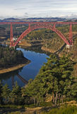 de france gabarit le viaduct Royaltyfri Foto