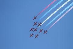 60 De Frankreich amerikanischen Nationalstandards Patrouille lizenzfreies stockfoto
