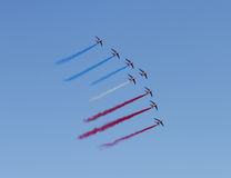 60 De Frankreich amerikanischen Nationalstandards Patrouille lizenzfreie stockfotografie