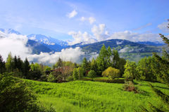 De Franse bergen van Alpen Royalty-vrije Stock Foto's