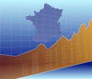De Franse Financiën en de Economie stock illustratie