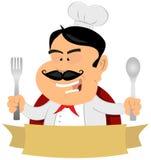 De Franse HoofdBanner van de Chef-kok Royalty-vrije Stock Fotografie