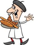 De Franse illustratie van het bakkersbeeldverhaal Stock Foto's