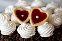 De Franse koekjes van het vanilleschuimgebakje Stock Foto's