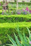 De Franse stijl van de bloemgrens, Tuileries-Tuin Stock Foto's