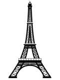De Franse Toren van Eiffel in zwart-witte kleur Royalty-vrije Stock Fotografie