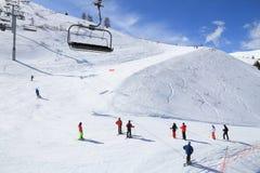 De Franse winter van Alpen Royalty-vrije Stock Afbeelding