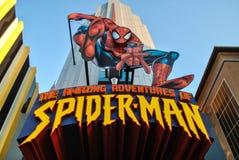 De förbluffa affärsföretagen av spidermanen Royaltyfria Bilder