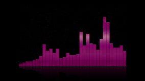 De frequentieachtergrond van de equaliserbar 4K stock video