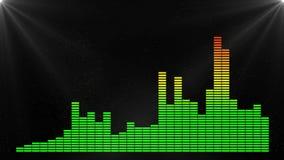 De frequentieachtergrond van de equaliserbar 4K stock footage