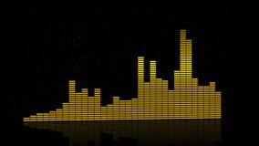 De frequentieachtergrond van de equaliserbar 4K stock videobeelden