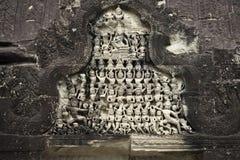 De fresko's in de kerk Angor Wat kambodja Stock Afbeeldingen