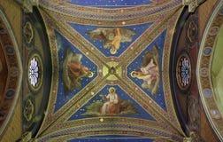 De fresko's van het plafond Stock Foto