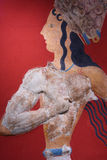 De fresko van Griekenland Heraklion Knossos Stock Foto