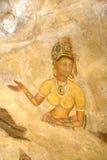 De Fresko van Sigiriya, Sri Lanka Stock Foto