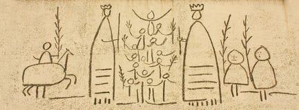 De friezen van Picasso Royalty-vrije Stock Foto's