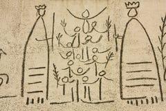 De friezen van Picasso, detail Stock Foto