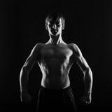 De frontale foto van de atletenvechter Royalty-vrije Stock Fotografie