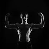 De frontale foto van de atletenvechter Stock Afbeeldingen