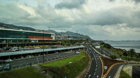 De Funchal à l'aéroport, la Madère Photos stock