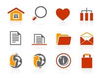 De fundamentele en pictogrammen van Internet | De reeks van het Hotel van de zonneschijn Stock Afbeeldingen