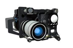 De futuristic filmar kameran Arkivfoton