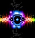 De futuristische Achtergrond van de Disco van de Muziek Stock Afbeelding