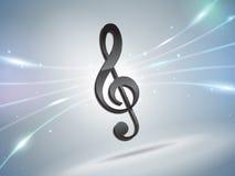 De futuristische achtergrond van de muzieknota Royalty-vrije Stock Afbeeldingen