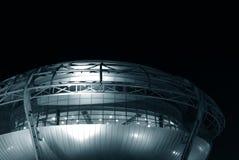De futuristische bouw in de vorm van een UFO Royalty-vrije Stock Afbeeldingen