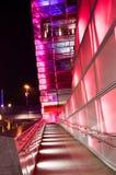 De futuristische Bouw in Linz Stock Fotografie