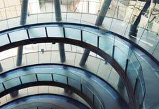De futuristische bureaubouw Royalty-vrije Stock Afbeeldingen