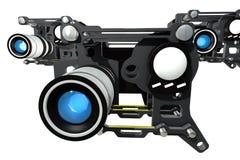 De futuristische filmcamera Stock Afbeelding