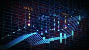 De futuristische grafiek van de voorraadkandelaar Helder positief tendens en de groeiconcept stock illustratie