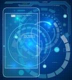 De futuristische grafische mobiele interface van de gebruikerstelefoon Royalty-vrije Stock Fotografie