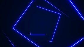 De futuristische HUD-naadloze lijn van de rechthoektunnel 4K de grafiek van de neonmotie voor leiden stock illustratie