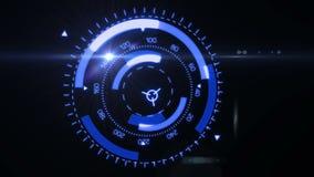 De futuristische Interface van HUD Target UX UI stock illustratie