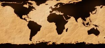 De futuristische kaart van de Aarde Stock Foto's