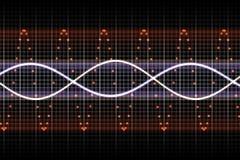 De futuristische Kloppende Muziek slaat vector illustratie