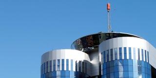 De futuristische moderne bouw Stock Foto
