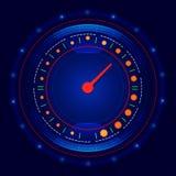 De futuristische vector van de autosnelheidsmeter Stock Foto