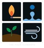 De fyra beståndsdelminimalistsymbolerna stock illustrationer