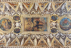 De fyra dörrarna hyr rum taket, dogeslotten, Italien Arkivbilder