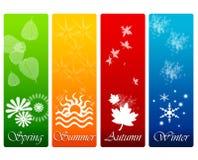De fyra säsongerna Arkivfoton