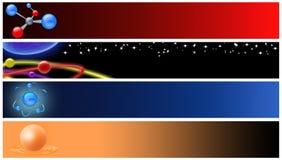 De fysica van de banner Stock Afbeeldingen
