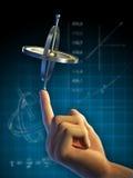 De fysica van de gyroscoop stock illustratie