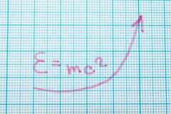 De fysieke formule e = m c2 stock illustratie
