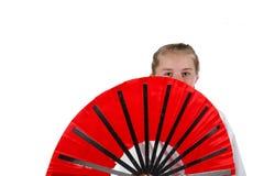 De gaande karate van het Tweenagemeisje royalty-vrije stock afbeelding